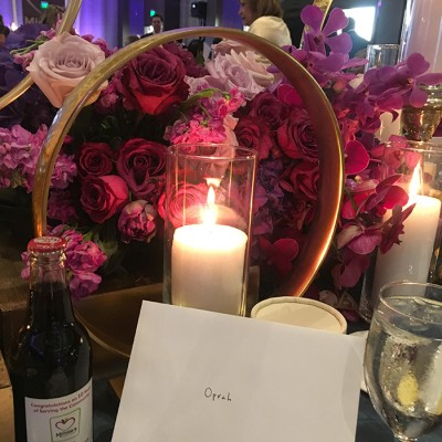 LiraDesign Studios in Plano Texas handwritten notes for all guests at Minnie's Food Pantry Gala 2018